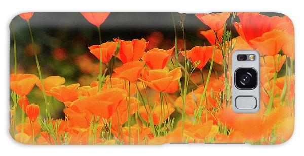 Glowing Poppies Galaxy Case
