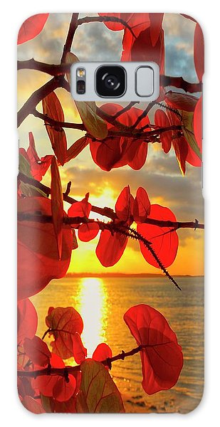 Foliage Galaxy Case - Glowing Red by Stephen Anderson