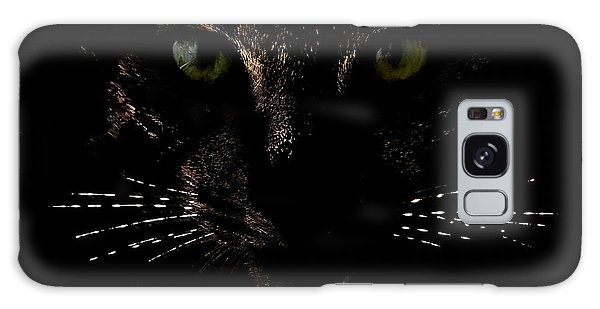 Glowing Whiskers Galaxy Case by Helga Novelli