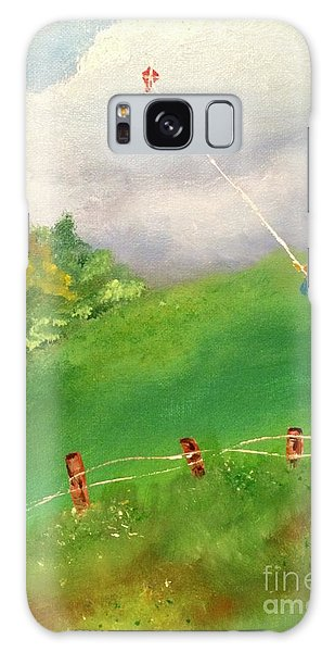 Galaxy Case featuring the painting Go Fly A Kite by Denise Tomasura