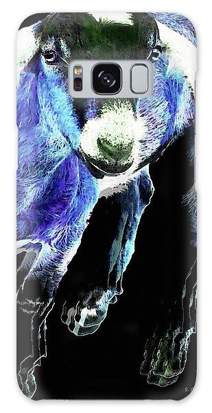Goat Pop Art - Blue - Sharon Cummings Galaxy Case by Sharon Cummings