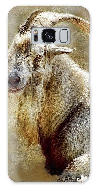 Goat Portrait Galaxy Case