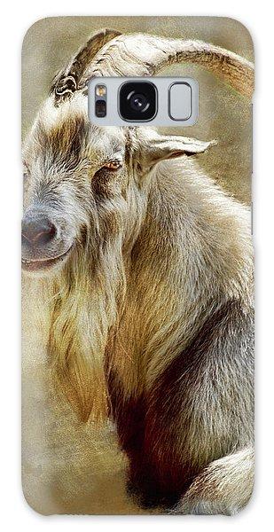 Contour Galaxy Case - Goat Portrait by Mihaela Pater