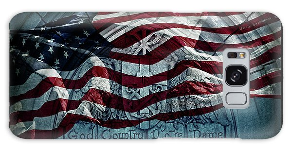 God Country Notre Dame American Flag Galaxy Case