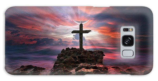 God Is My Rock Special Edition Fine Art Galaxy Case by Justin Kelefas