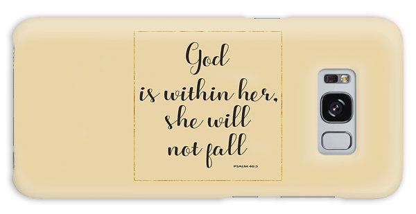 God Is Within Her She Will Not Fall Bible Quote Galaxy Case by Georgeta Blanaru