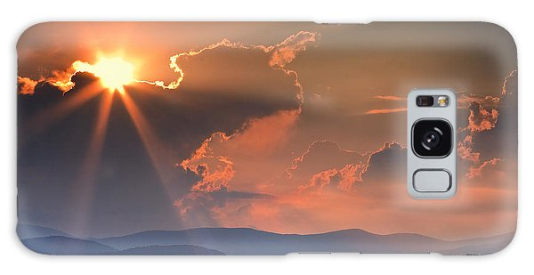 God Rays Over N C  Mountains Galaxy Case