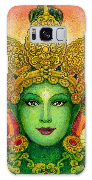 Goddess Green Tara's Face Galaxy Case by Sue Halstenberg