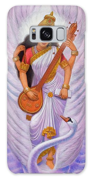Goddess Saraswati Galaxy Case by Sue Halstenberg