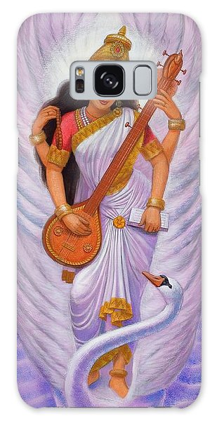 Goddess Saraswati Galaxy Case