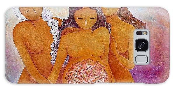 Goddesses In Birth  Galaxy Case