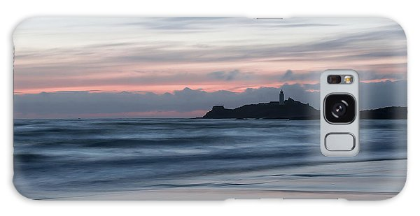 Godrevy Lighthouse From The Beach Galaxy Case