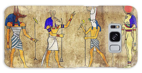 Gods Of Ancient Egypt Galaxy Case by Michal Boubin
