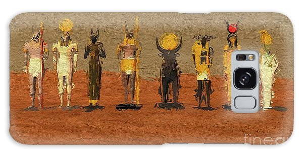 Anubis Galaxy Case - Gods Of Egypt By Mb by Mary Bassett