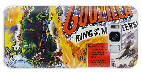 Godzilla King Of The Monsters An Enraged Monster Wipes Out An Entire City Vintage Movie Poster Galaxy Case