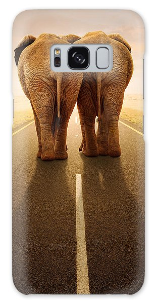 Going Away Together / Travelling By Road Galaxy Case by Johan Swanepoel