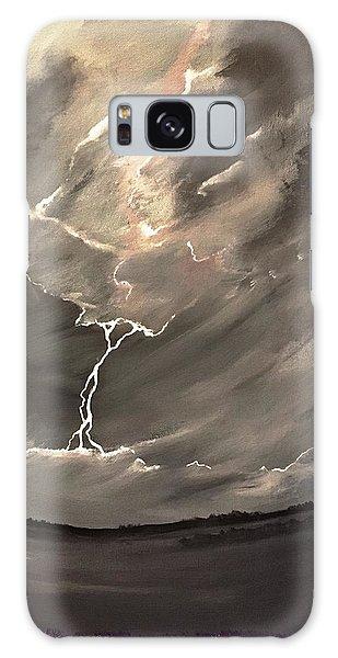 Going Down A Storm Galaxy Case by Scott Wilmot
