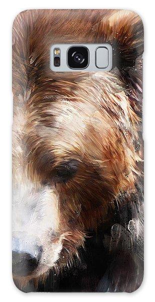Wild Animals Galaxy Case - Bear // Gold by Amy Hamilton