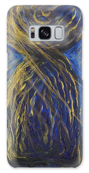 Gold And Blue Latte Stone Galaxy Case