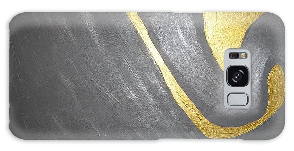 Gold And Gray Galaxy Case by Barbara Yearty