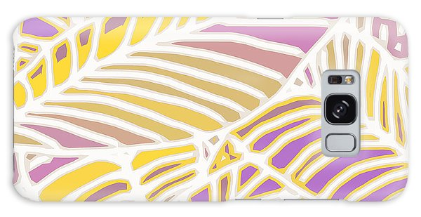 Gold And Orchid Leaves Cutout Galaxy Case