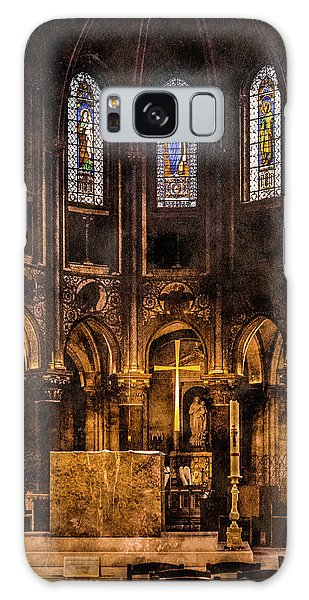 Paris, France - Gold Cross - St Germain Des Pres Galaxy Case