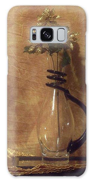 Gold Flower Vase Galaxy Case