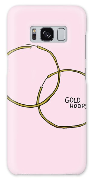 Gold Hoops Galaxy Case