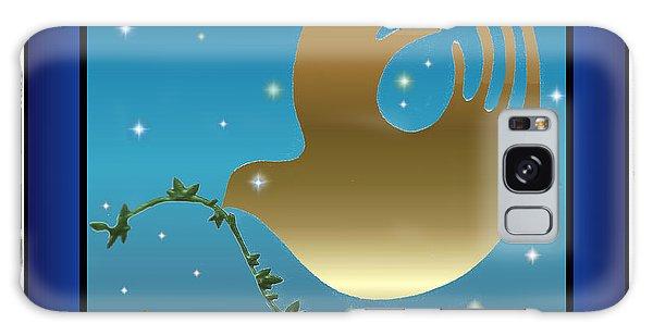 Gold Peace Dove Galaxy Case