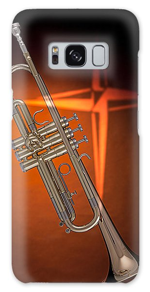 Gold Trumpet With Cross On Orange Galaxy Case
