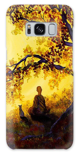 Golden Afternoon Meditation Galaxy Case