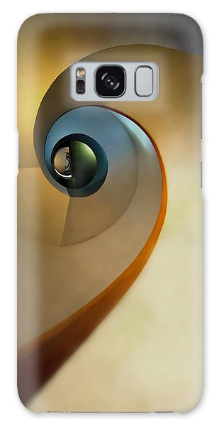 Golden And Brown Spiral Staircase Galaxy Case by Jaroslaw Blaminsky