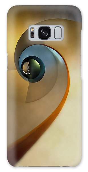 Golden And Brown Spiral Staircase Galaxy Case