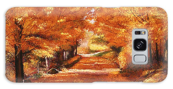 Golden Autumn Galaxy Case