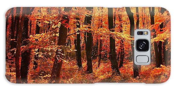 Golden Autumn Forest Galaxy Case