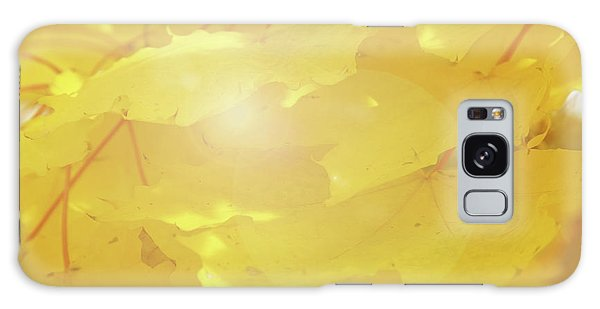 Golden Autumn Leaves Galaxy Case