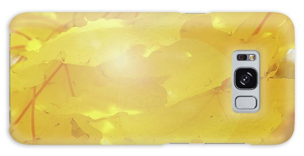 Golden Autumn Leaves Galaxy Case