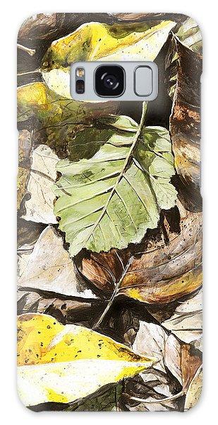 Hyper-realistic Galaxy Case - Golden Autumn - Talkeetna Leaves by Karen Whitworth
