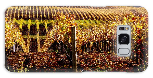 Golden Autumn Vineyard Galaxy Case by Jeff Lowe