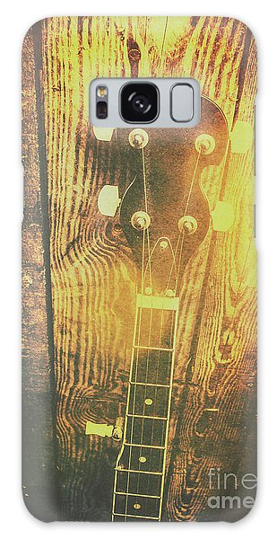 Golden Banjo Neck In Retro Folk Style Galaxy Case by Jorgo Photography - Wall Art Gallery