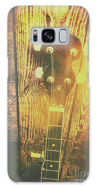 Song Galaxy Case - Golden Banjo Neck In Retro Folk Style by Jorgo Photography - Wall Art Gallery