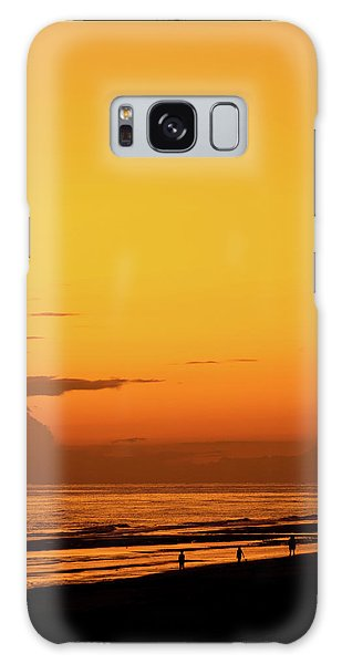 Golden Beach Sunset Galaxy Case