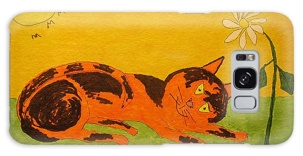 Golden Cat Reclining Galaxy Case
