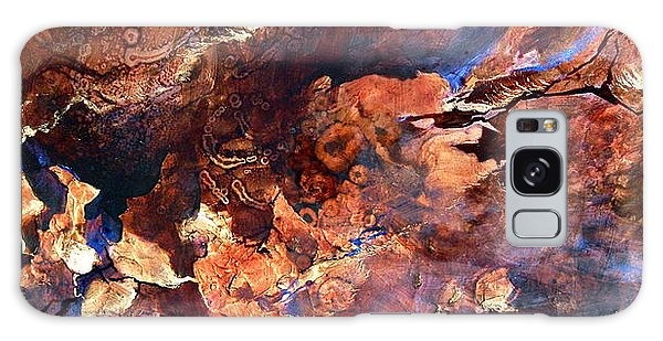 Golden Caves Galaxy Case