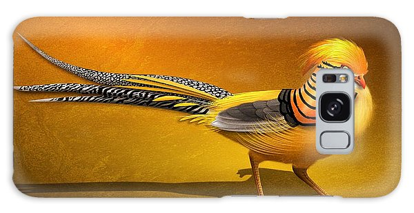Golden Chinese Pheasant Galaxy Case by John Wills