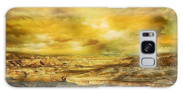 Golden Colors Of Desert Galaxy Case