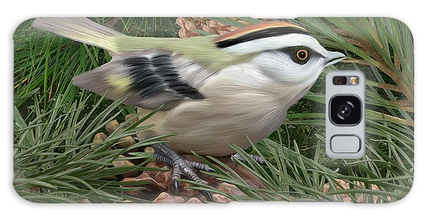 Golden Crowned Kinglet Galaxy Case