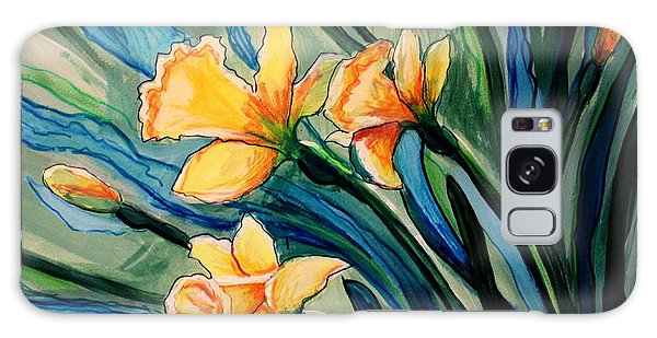 Golden Daffodils Galaxy Case
