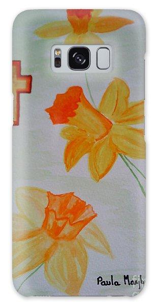 Golden Daffodils Galaxy Case