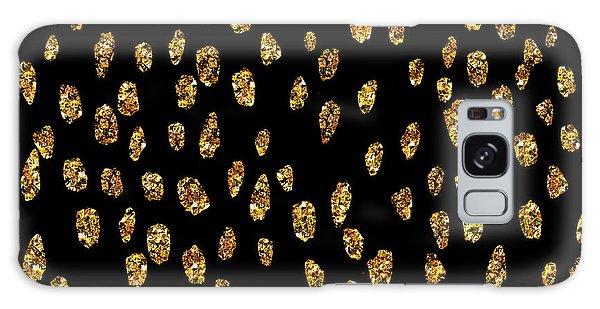 Golden Dots Galaxy Case